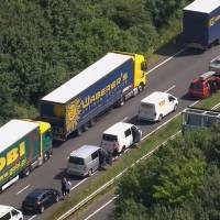 Increased security checks in France leads to massive traffic jams in southeast England