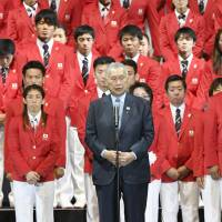 Yoshiro Mori tells Japanese athletes don't 'mumble' anthem at Olympics next month
