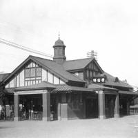 This photo shows the current Harajuku Station shortly before it was opened, presumably in 1924. | RAILWAY MUSEUM