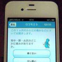 The Japanese Orthopedic Association recommends that elderly people examine their motor functions using a 25-question checklist on a smartphone. | KYODO