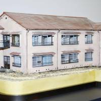 A one-fiftieth-size replica of Tokiwa-so is created for the project to restore the building by 2020. | TOSHIMA MUNICIPAL GOVERNMENT/KYODO