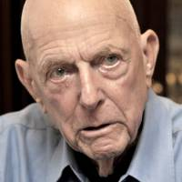 Former U.S. Army Air Corps Capt. Jerry Yellin is interviewed at The Japan Times in Tokyo on June 22. | YOSHIAKI MIURA