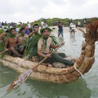 Researchers in reed canoes fall short in bid to replicate Stone Age voyage