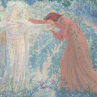 Jean Delville's 'Dante Drinking Water from the Lethe' (1919) | HIMEJI CITY MUSEUM OF ART