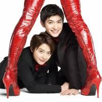 Fancy footwork: Teppei Koike (left) plays Charlie and Haruma Miura plays Lola in the Japanese production of the hit Broadway musical 'Kinky Boots.' | © LESLIE KEE