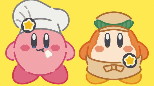 Eat like a cute, round pink Nintendo character called Kirby