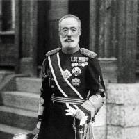 Searching for honor in death: Gen. Maresuke Nogi stands outside his home in Tokyo, the site where he and his wife committed ritual suicide in response to the death of Emperor Meiji. | PUBLIC DOMAIN