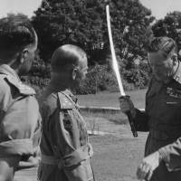 Bushido embodied: Gen. Claude Auchinleck holds up a sword captured in battle during World War II. | CHRIS TURNER VIA FLICKR / CC BY 2.0