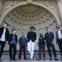TGIFunk: Con Brio, a funk act from the United States, plays the Palace of Wonder stage at Fuji Rock Festival on Friday.