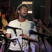 Your new favorite band: Ziek McCarter impresses the crowd at one of Con Brio's multiple Fuji Rock sets.   JAMES HADFIELD