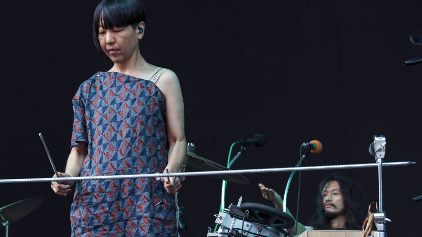Starting early: Boredoms kicked off Fuji Rock Festival with some choice experimental songs. | JAMES HADFIELD