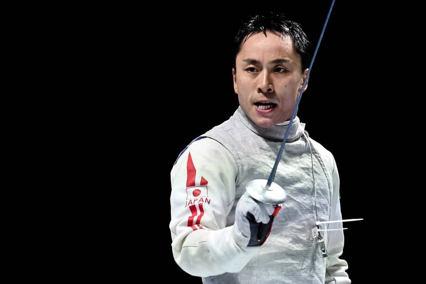 Fencer Yuki Ota, seen in a July 2015 file photo, is aiming for a gold medal at the upcoming Rio de Janeiro Olympics.   AFP-JIJI