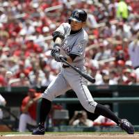 Ichiro moves closer to milestone with three hits in victory