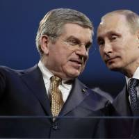 IOC's Bach in tough spot on banning Russia for Rio