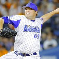 Reliever Mike Zagurski is in his first season with the BayStars after playing for the Carp in 2015. | KYODO