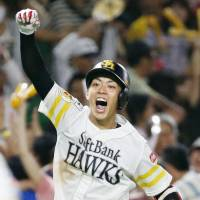 Hawks shortstop Kenta Imamiya is hoping to help SoftBank capture a third straight Pacific League pennant. | KYODO