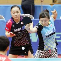 Table tennis 'sisters' hoping to grab gold for Japan