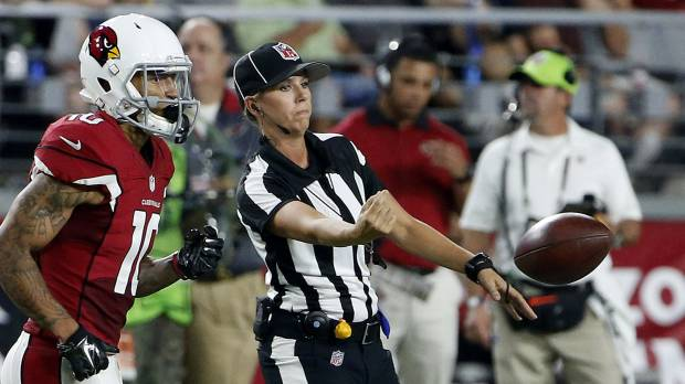 NFL's first female official looks ahead to second season on job