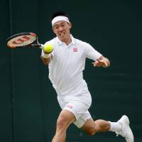 Nishikori, Doi advance to fourth round at Wimbledon