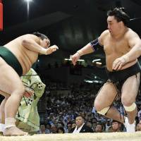 Kakuryu, Harumafuji suffer first losses at Nagoya Basho