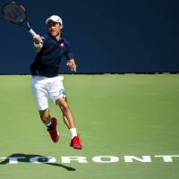 Nishikori returns to action with solid victory in Toronto