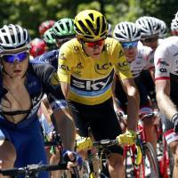 Froome keeps cool, yellow jersey in mountain stage at Tour de France