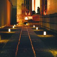 Small steps: The path that leads to the Butoh-kan is lit by candles that add to the mysterious mood. The space itself only sits eight people. | YUJI KOHARA