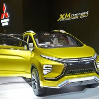 Mitsubishi Motors Corp. reveals its new XM Concept crossover at the Gaikindo Indonesia International Auto Show on Thursday. | KYODO
