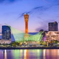 The Port of Kobe in Hyogo Prefecture is seen at twilight. A risk-management firm says ports in Japan, China and the U.S. face the greatest financial risk from natural disasters because of their vulnerable locations and increasing cargo volumes. | ISTOCK