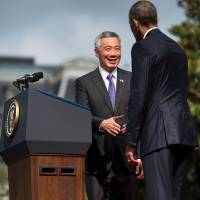 Singapore chief meets Obama to fete 50th year of ties, urges Congress to OK TPP