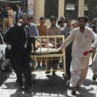 Bombing at hospital in Pakistani city of Quetta kills 53, leaves dozens wounded