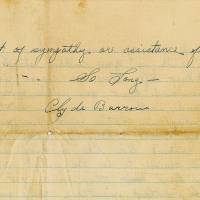 Threatening Bonnie and Clyde letter to ex-accomplice to go on the block