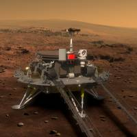 China's Mars lander and rover are shown in an illustration released Tuesday by the Chinese State Administration of Science, Technology and Industry for National Defense. | REUTERS