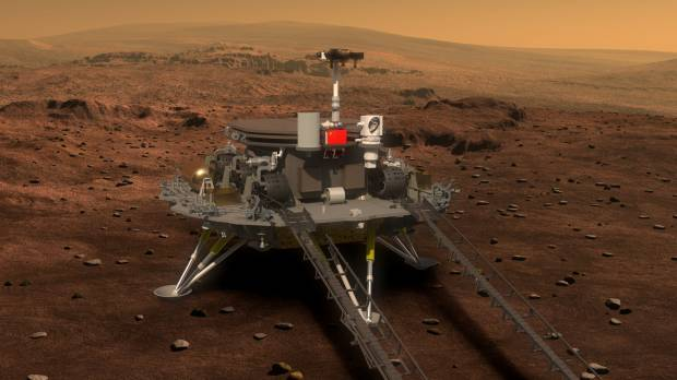 China unveils Mars rover for 2020 mission