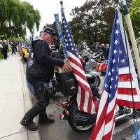 Vets on Harleys to bike Civil War Yankee's ashes from Oregon insane asylum back to Maine