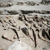 Mysterious shackled skeletons found in ancient Greek mass grave