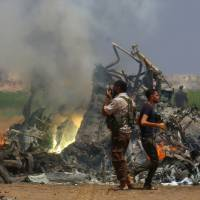 Russian helicopter shot down in Syria, killing all five onboard