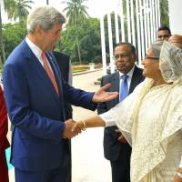 Kerry in Bangladesh for security talks amid terror concerns