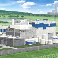 This concept design image shows a Westinghouse small modular reactor (SMR) site. | REUTERS