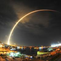 SpaceX lands Falcon 9 rocket on barge as Japanese satellite reaches orbit