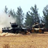 Turkey pounds Islamic State targets just inside Syria border before key assault