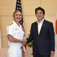 Abe denies conveying concern to U.S. commander over 'no first use' nuke policy