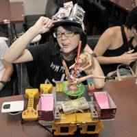 Anipole Kyoko was honored for her lousy robot at the Hebocon World Championship on Sunday in Tokyo.   YOSHIAKI MIURA