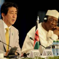 As Japan struggles to make inroads in Africa in face of Chinese presence, Abe pushes quality