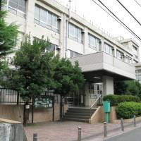Yuriko Koike said that if elected Tokyo governor she would cancel a plan to lease this school site in Shinjuku Ward for a Korean school. | KYODO