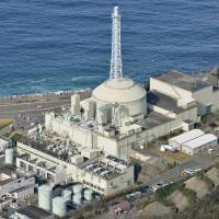 The Monju fast-breeder reactor is seen in Tsuruga, Fukui Prefecture, in January. The science ministry has been looking for a new operator, so far unsuccessfully. | KYODO