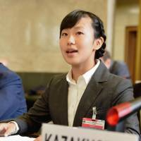 Japanese student addresses U.N. Conference on Disarmament, emphasizes inhumanity of nuclear weapons