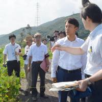 Kagoshima governor inspects evacuation routes around Sendai nuclear plant