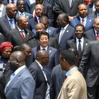 Abe dangles $30 billion at Africa leaders in Nairobi in counter to China