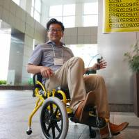 Pedal-powered wheelchair a hit for therapy, rehabilitation